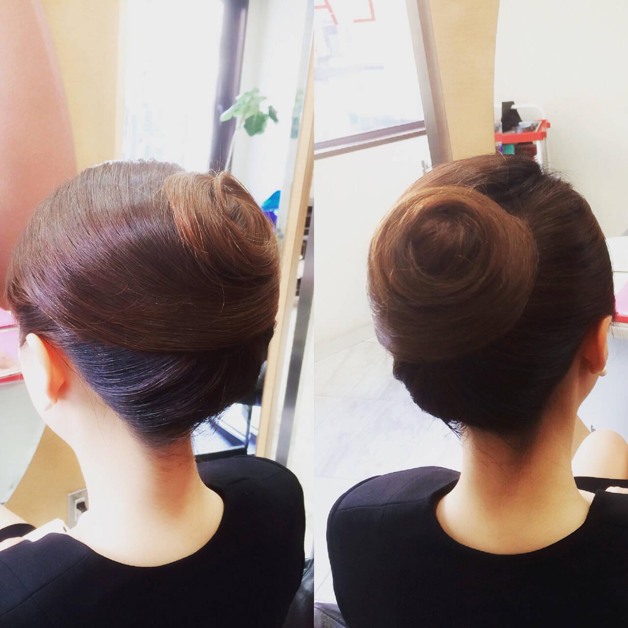 着物 ロング 和装 アップスタイルヘアスタイルや髪型の写真・画像