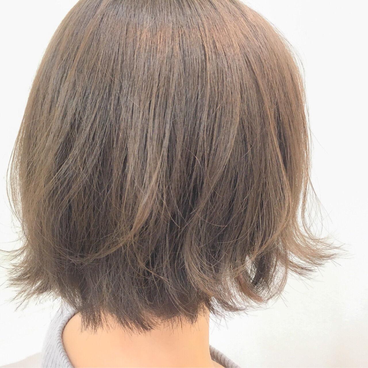透明感 ナチュラル 外ハネ 大人女子ヘアスタイルや髪型の写真・画像