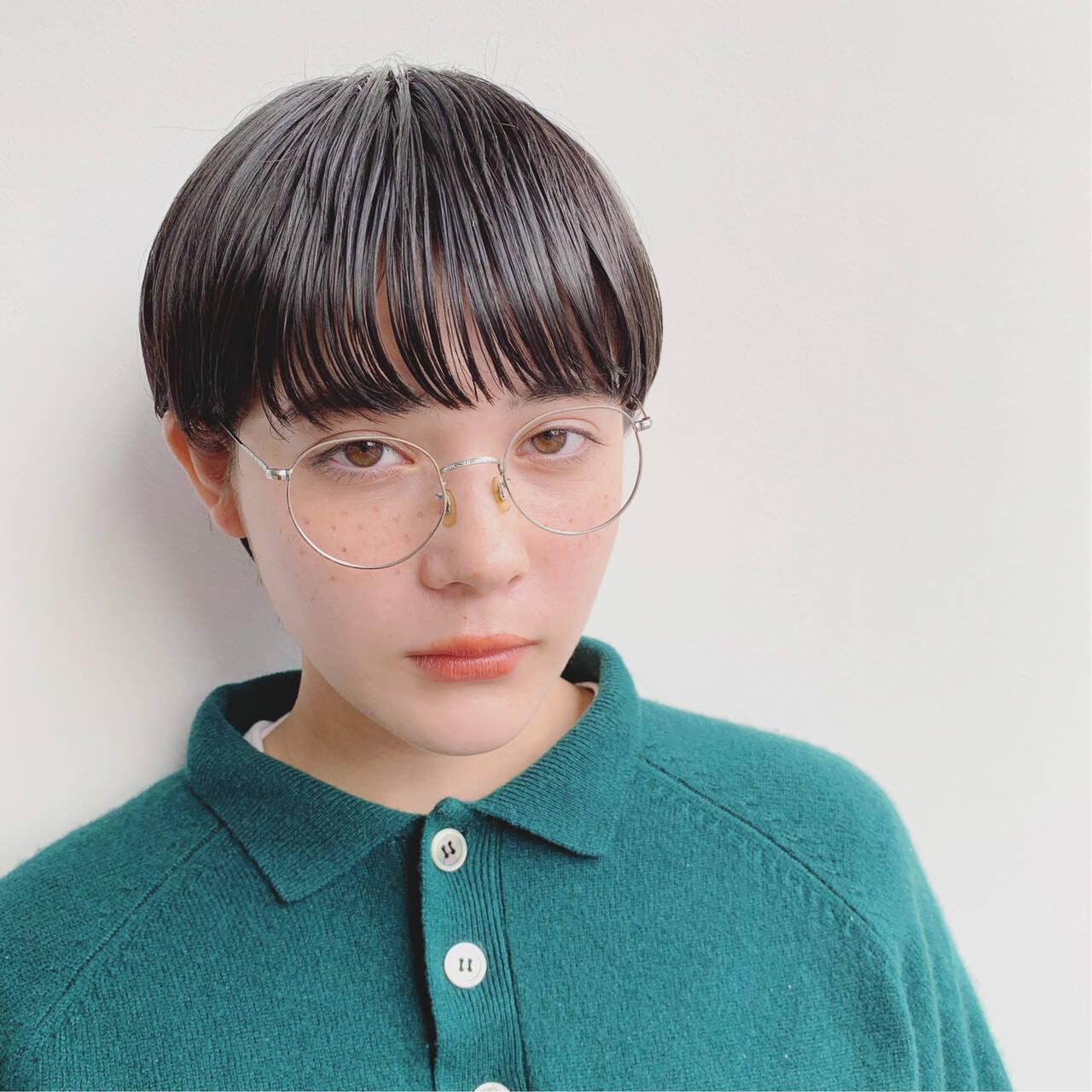 前髪あり 外国人風 ストレート 抜け感ヘアスタイルや髪型の写真・画像