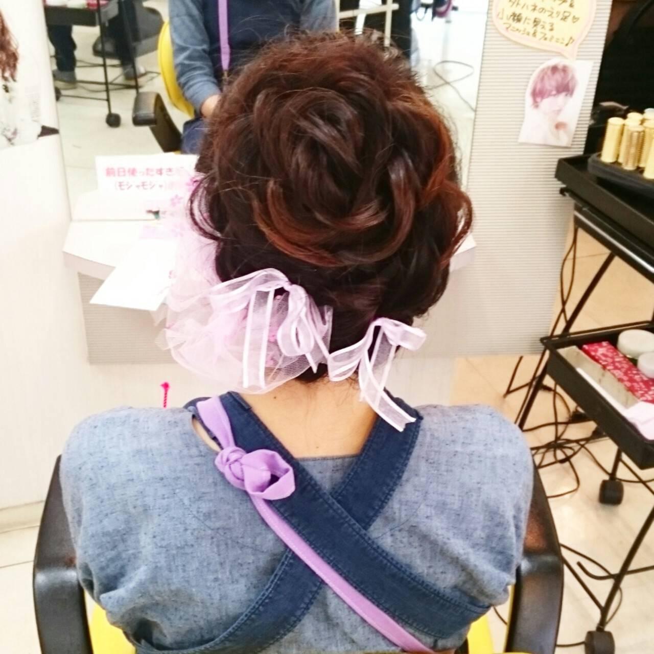 ゆるふわ ロング 着物 和装ヘアスタイルや髪型の写真・画像