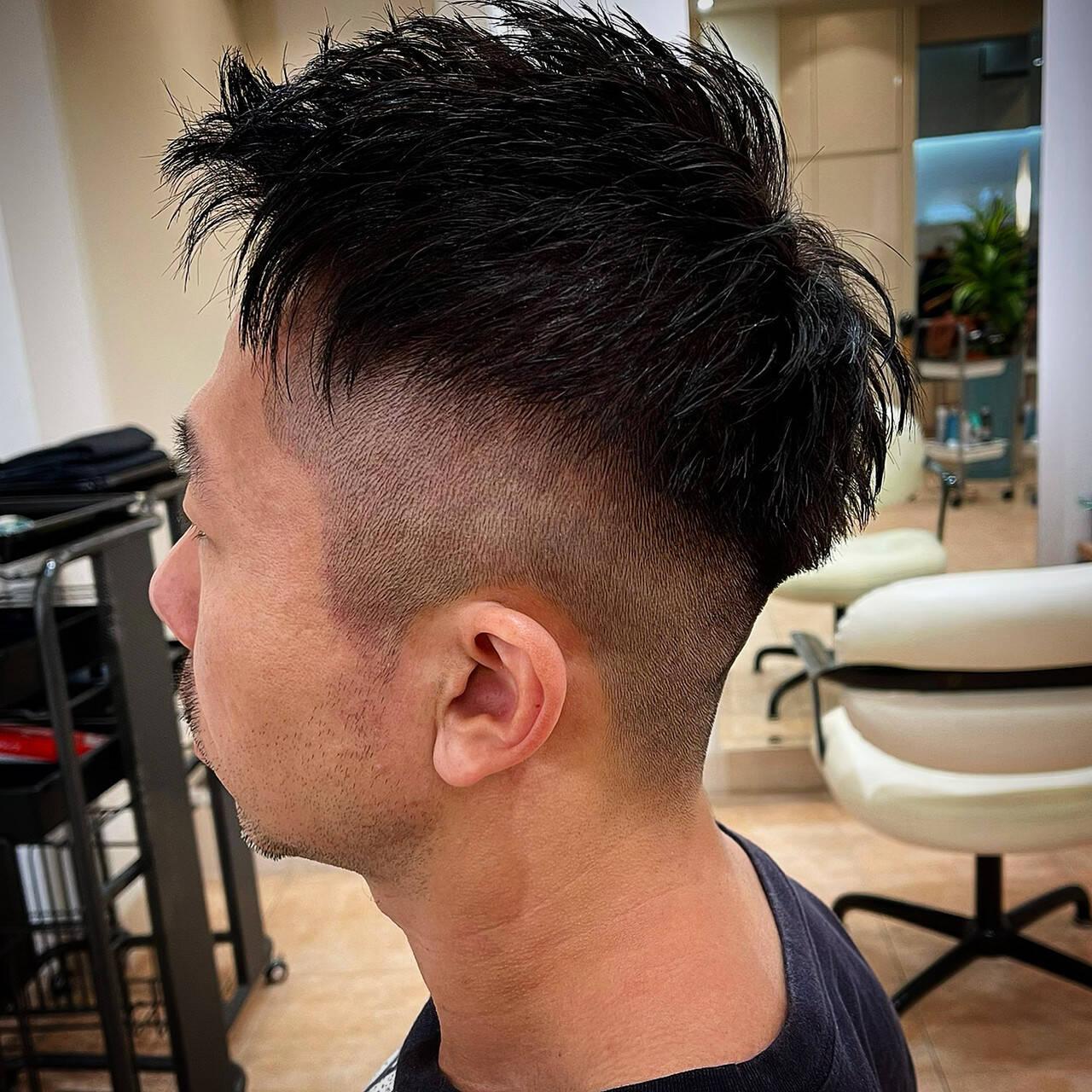 ベリーショート 刈り上げショート ツーブロック 刈り上げヘアスタイルや髪型の写真・画像