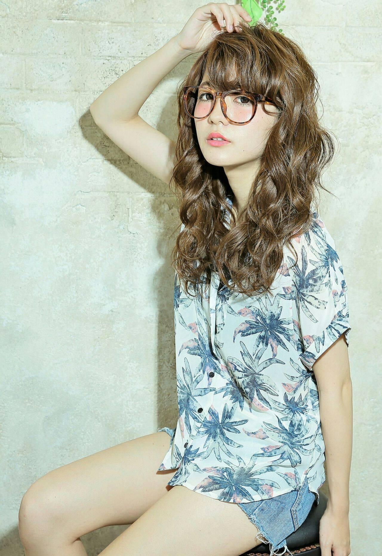 外国人風 アッシュ 外国人風カラー ゆるふわヘアスタイルや髪型の写真・画像
