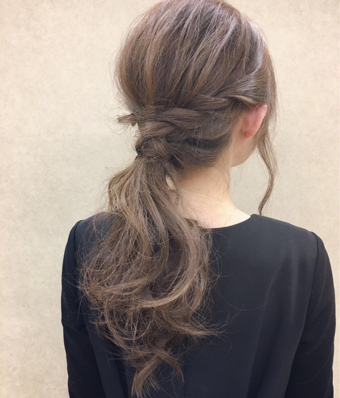 愛され ヘアアレンジ セミロング ショートヘアスタイルや髪型の写真・画像