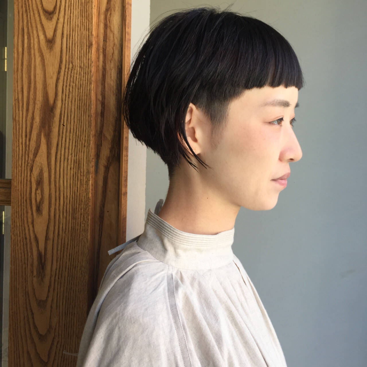 刈り上げ オン眉 モード ショートヘアスタイルや髪型の写真・画像