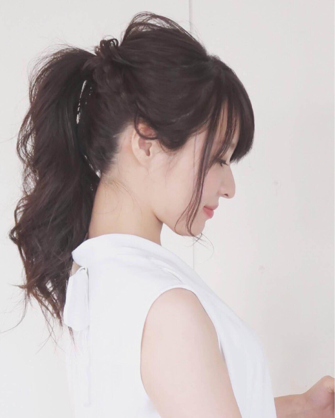 結婚式 大人かわいい ナチュラル ヘアアレンジヘアスタイルや髪型の写真・画像