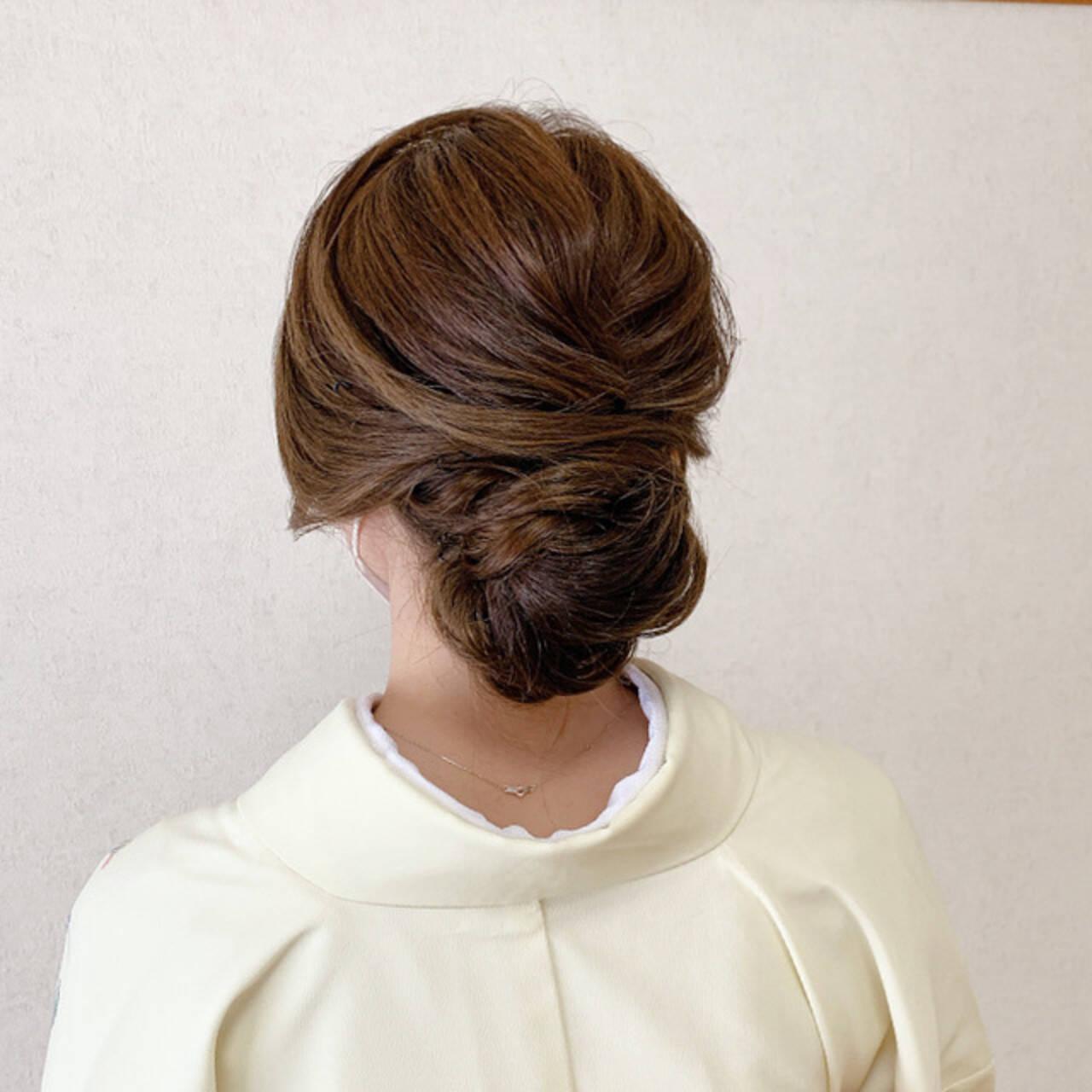 和装ヘア エレガント ミディアム 着物ヘアスタイルや髪型の写真・画像