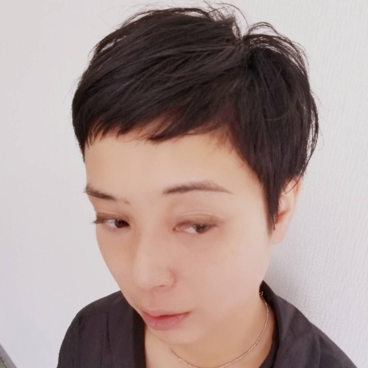 上品 エレガント ショート ナチュラルヘアスタイルや髪型の写真・画像