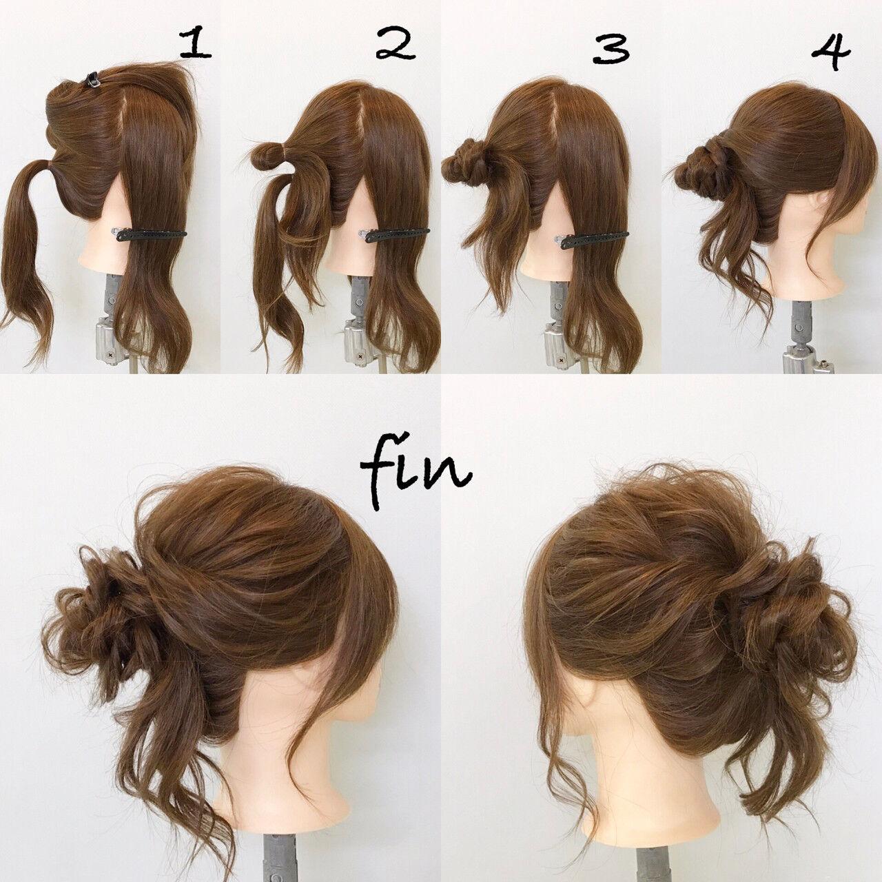 デート ゆるふわ ロング 簡単ヘアアレンジヘアスタイルや髪型の写真・画像