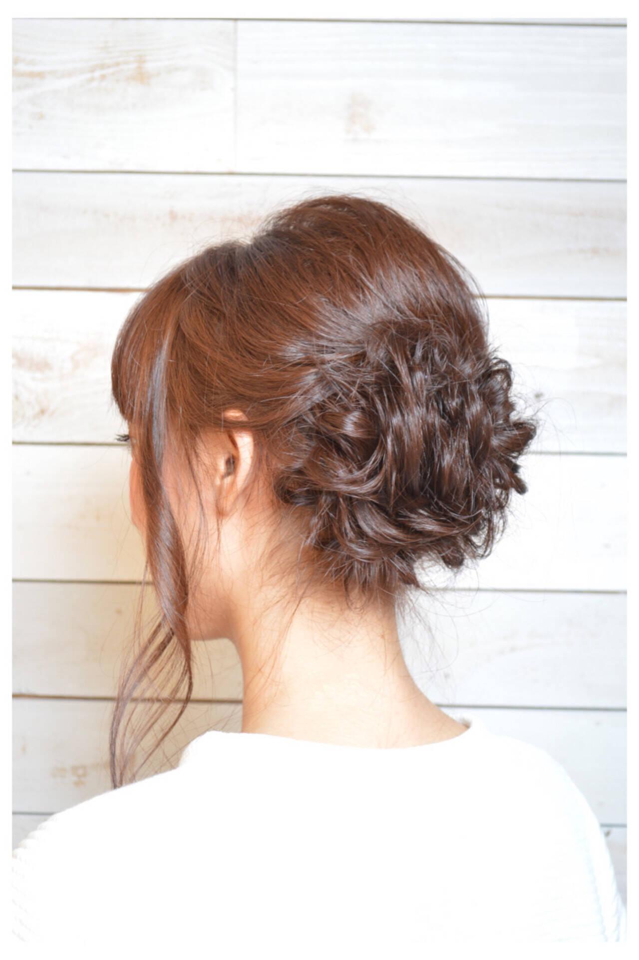 ミディアム 大人かわいい ナチュラル 結婚式ヘアスタイルや髪型の写真・画像