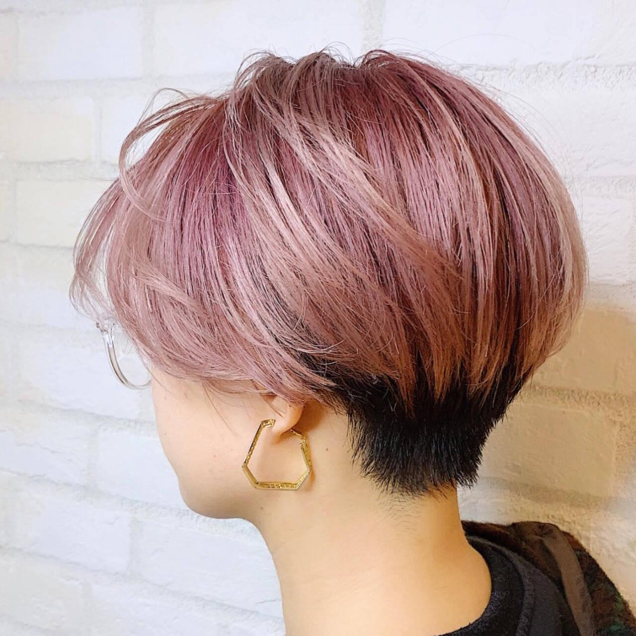 モード ミニボブ ショートボブ ショートヘアスタイルや髪型の写真・画像