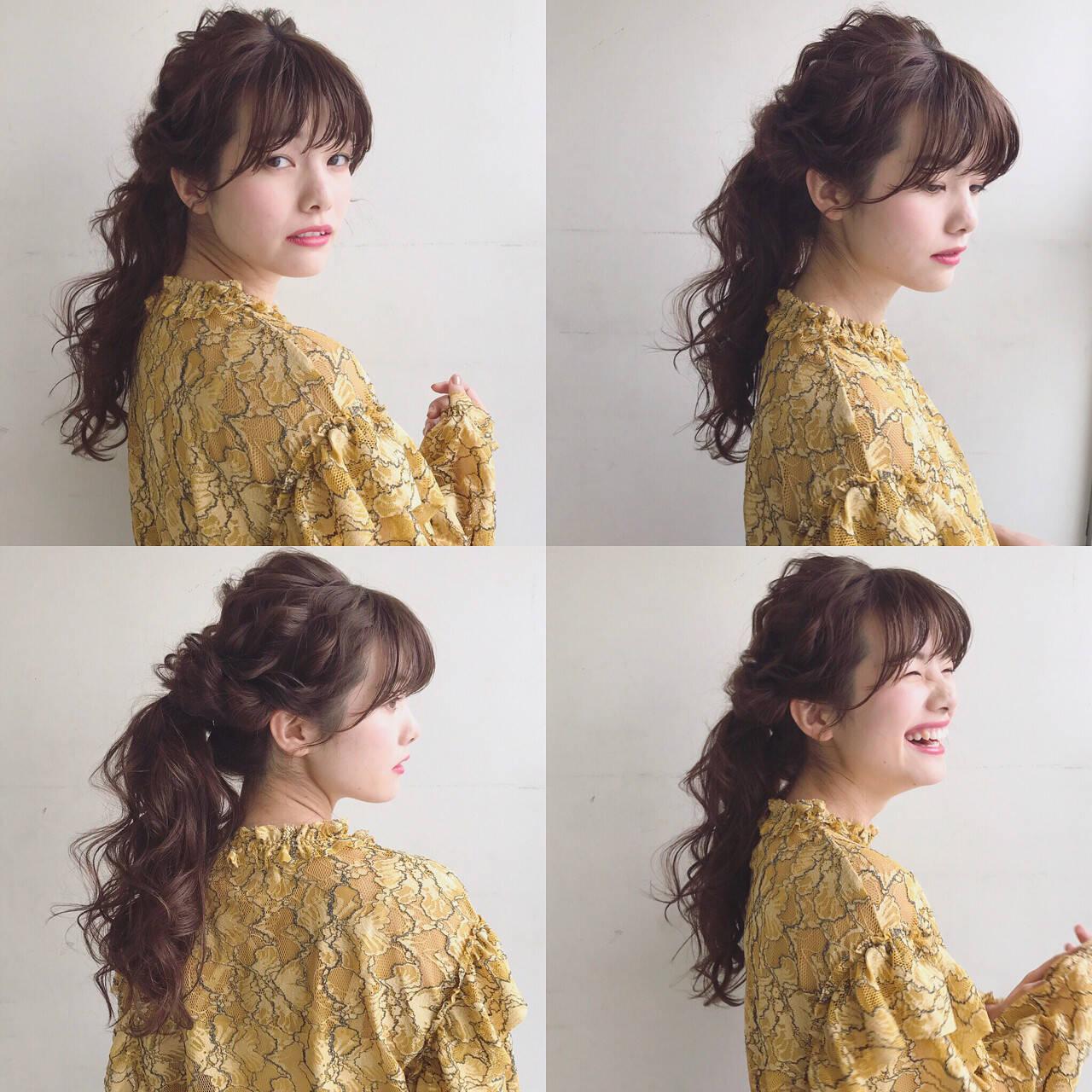 簡単ヘアアレンジ アンニュイ ロング デートヘアスタイルや髪型の写真・画像