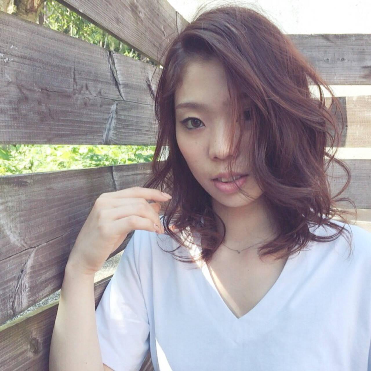 夏 コンサバ ゆるふわ ミディアムヘアスタイルや髪型の写真・画像