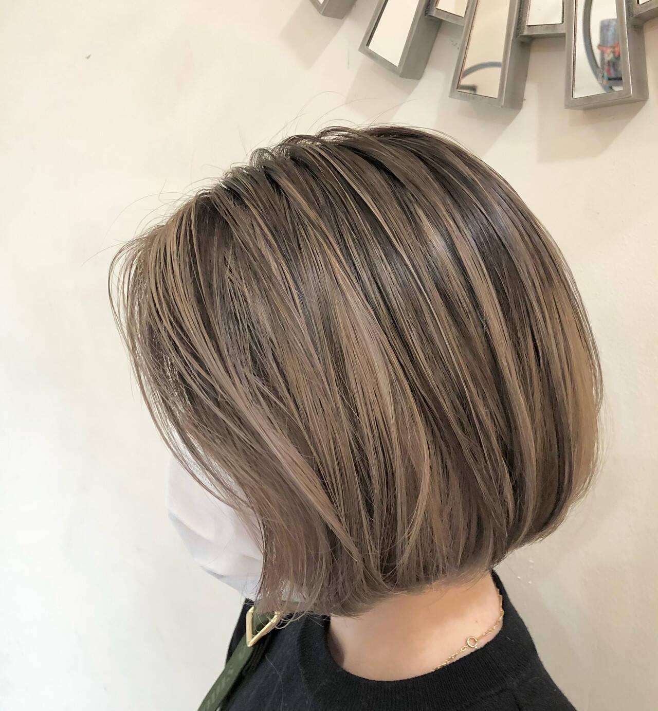 ハイトーンカラー ナチュラル インナーカラー グラデーションカラーヘアスタイルや髪型の写真・画像