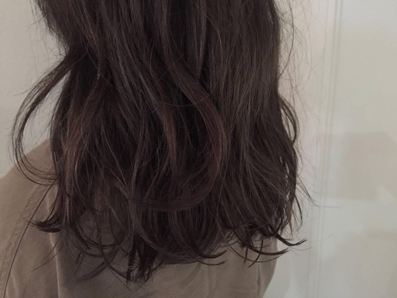 ロング ストリート アッシュ 暗髪ヘアスタイルや髪型の写真・画像