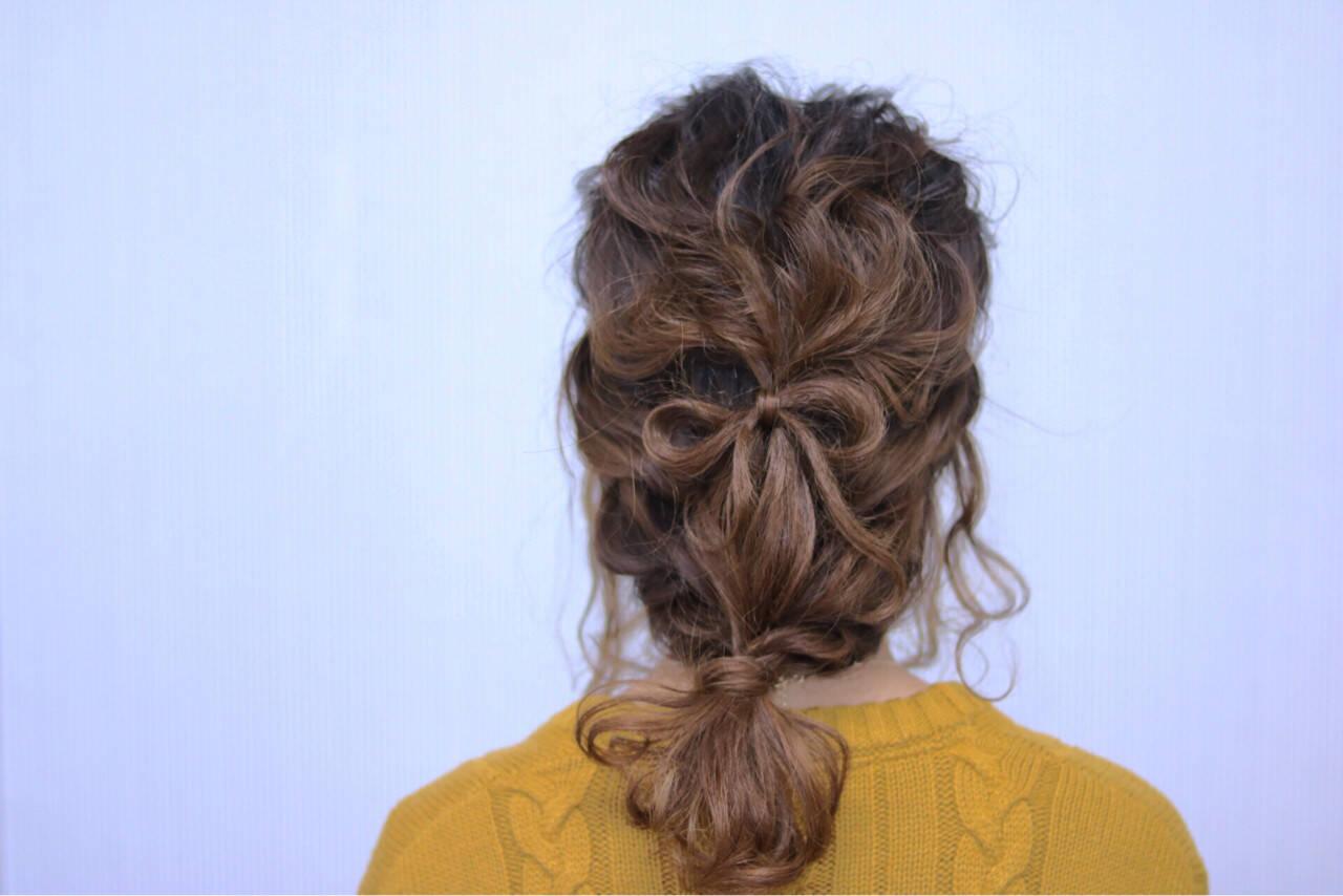 ミディアム 簡単ヘアアレンジ ショート ストリートヘアスタイルや髪型の写真・画像