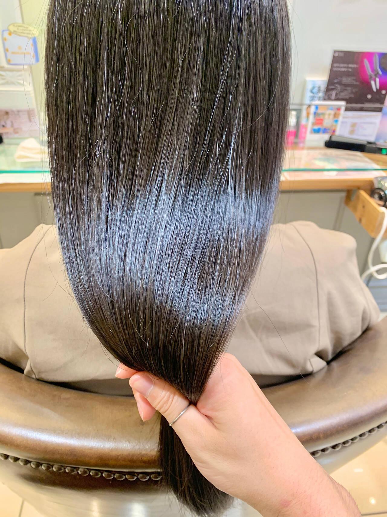 髪質改善 髪質改善トリートメント トリートメント ロングヘアスタイルや髪型の写真・画像
