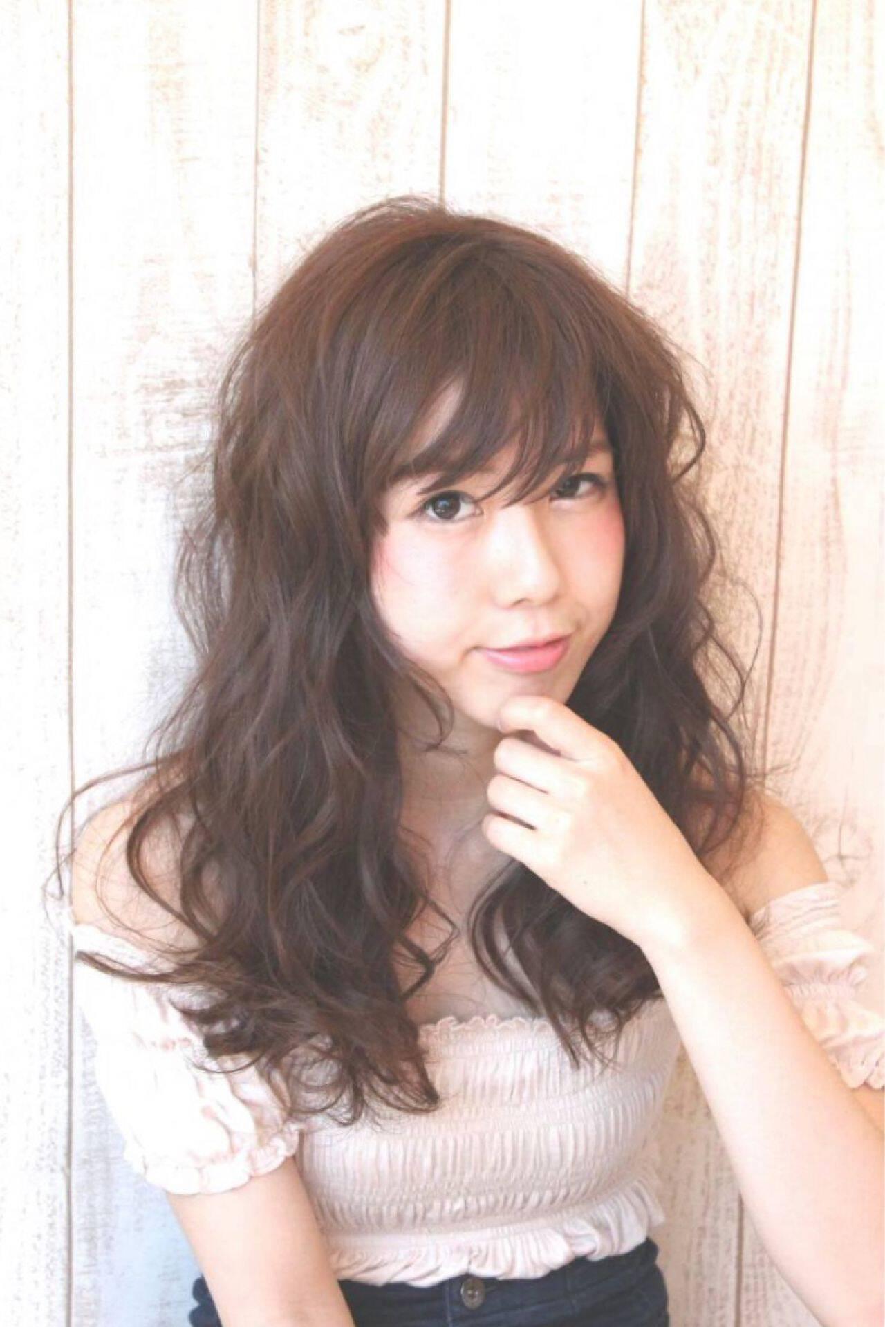 シースルーバング モテ髪 おフェロ 愛されヘアスタイルや髪型の写真・画像