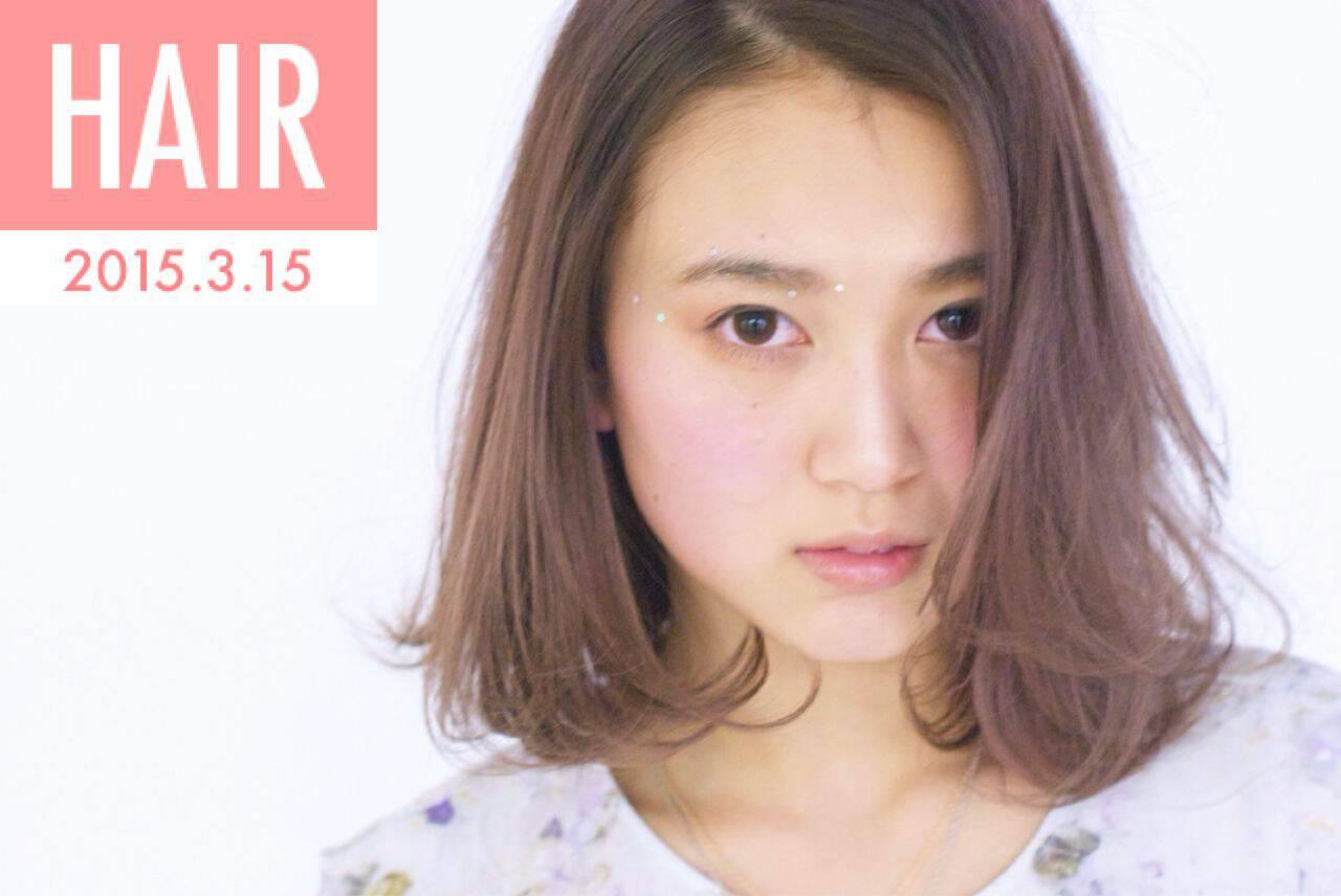 レッド ストリート ピンク ナチュラルヘアスタイルや髪型の写真・画像