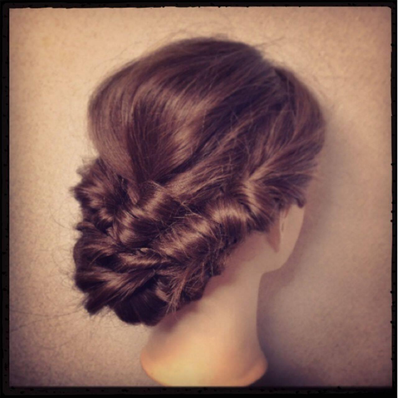 結婚式 ヘアアレンジ 大人かわいい 簡単ヘアアレンジヘアスタイルや髪型の写真・画像