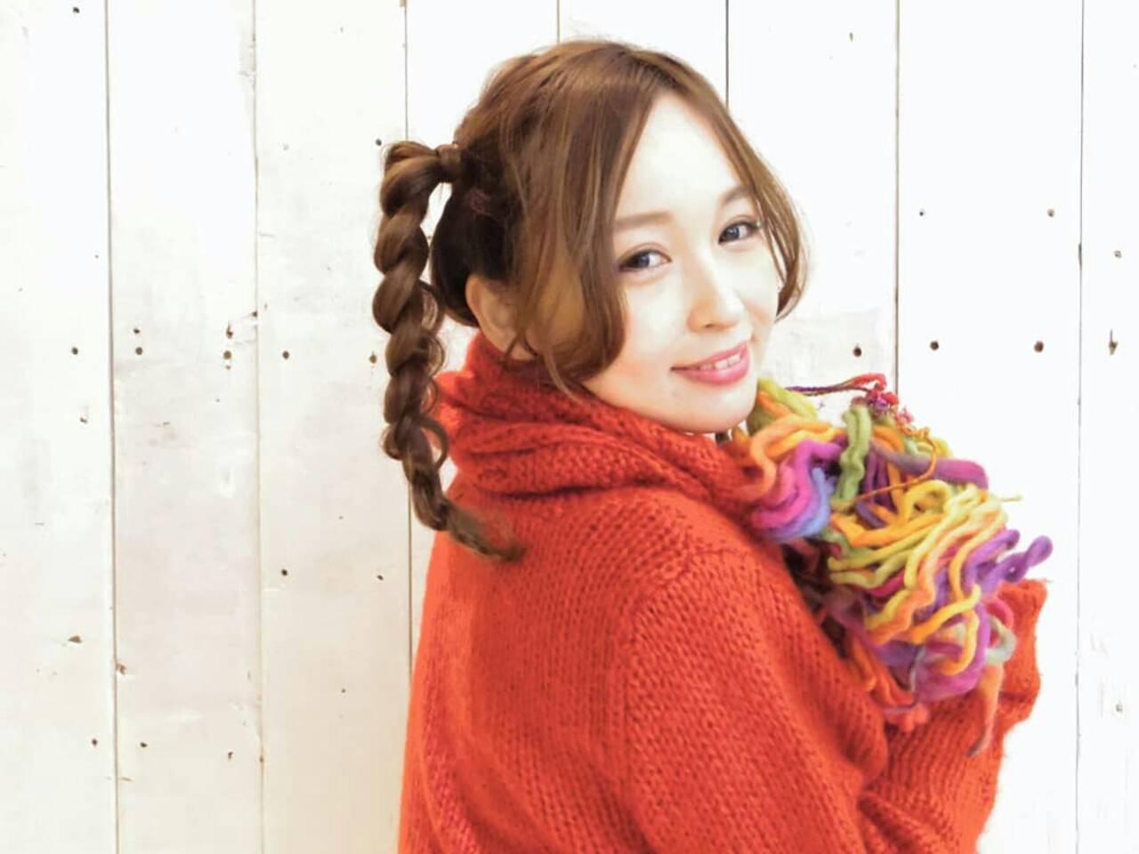 ポニーテール ストリート 三つ編み ヘアアレンジヘアスタイルや髪型の写真・画像
