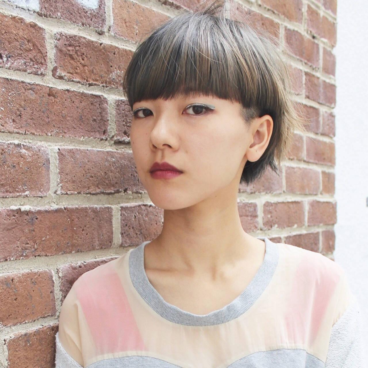 ショート ボブ 色気 外国人風ヘアスタイルや髪型の写真・画像