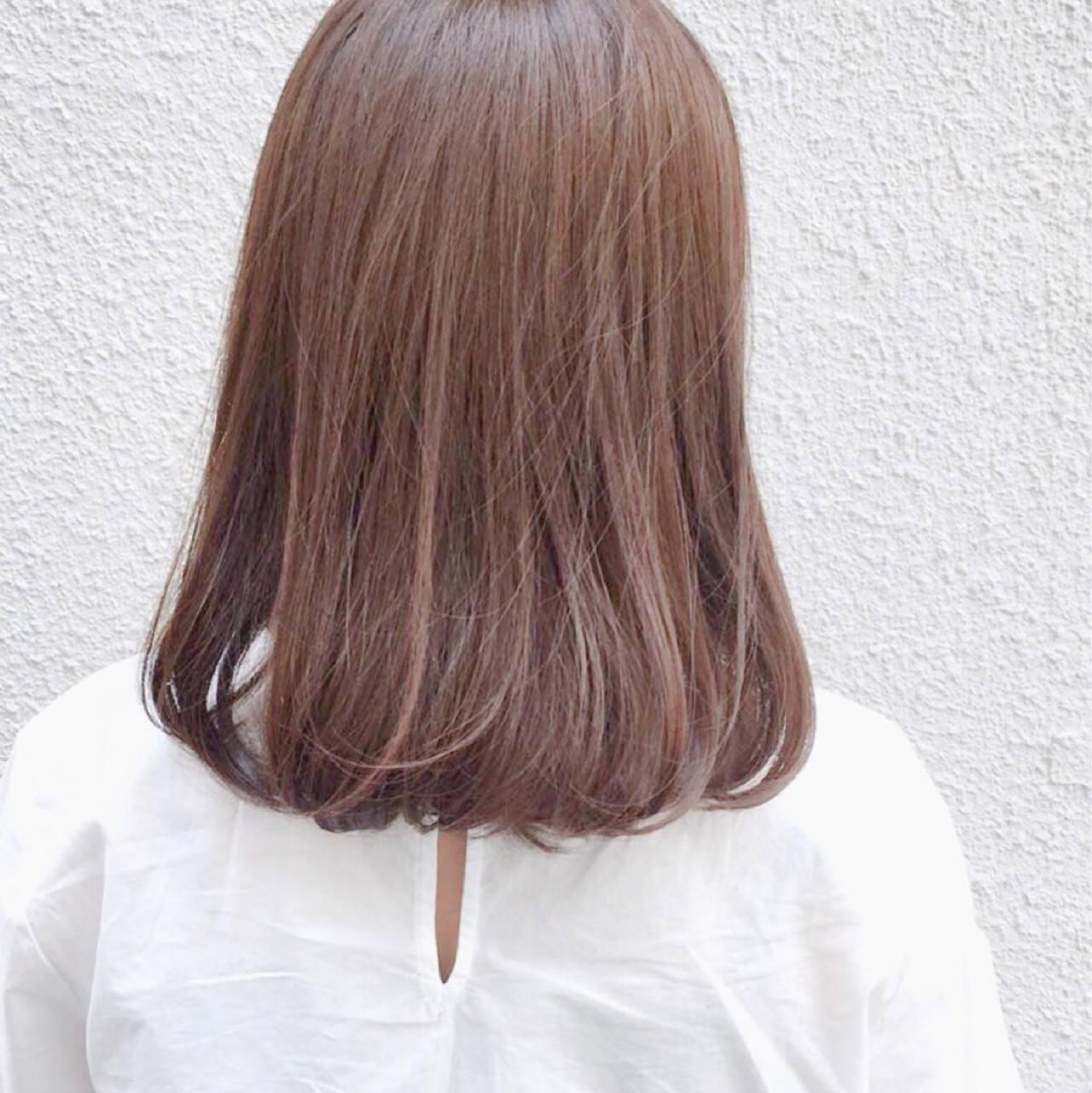 艶髪 ボブ ナチュラル 透明感ヘアスタイルや髪型の写真・画像