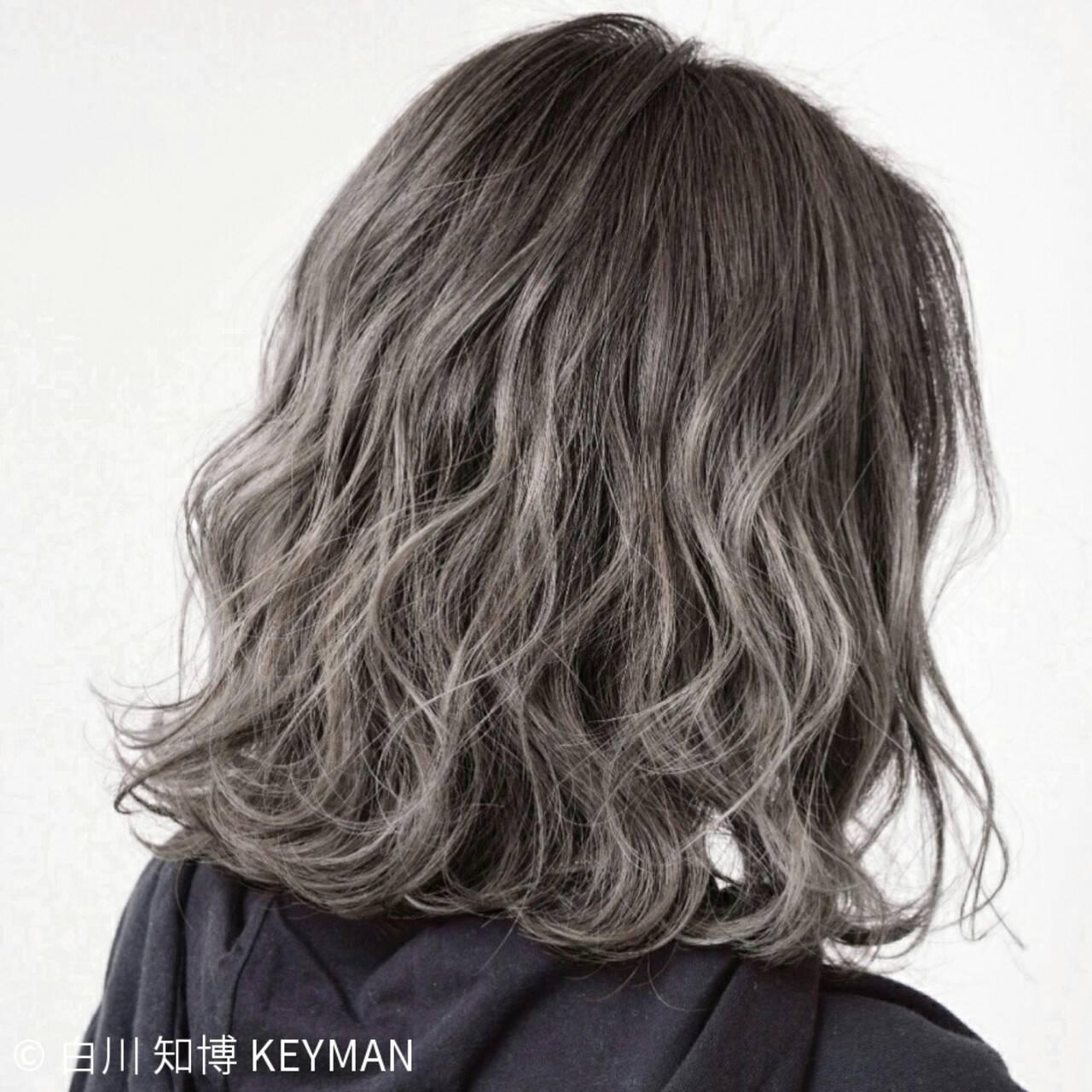 外国人風 ニュアンス パーマ ボブヘアスタイルや髪型の写真・画像
