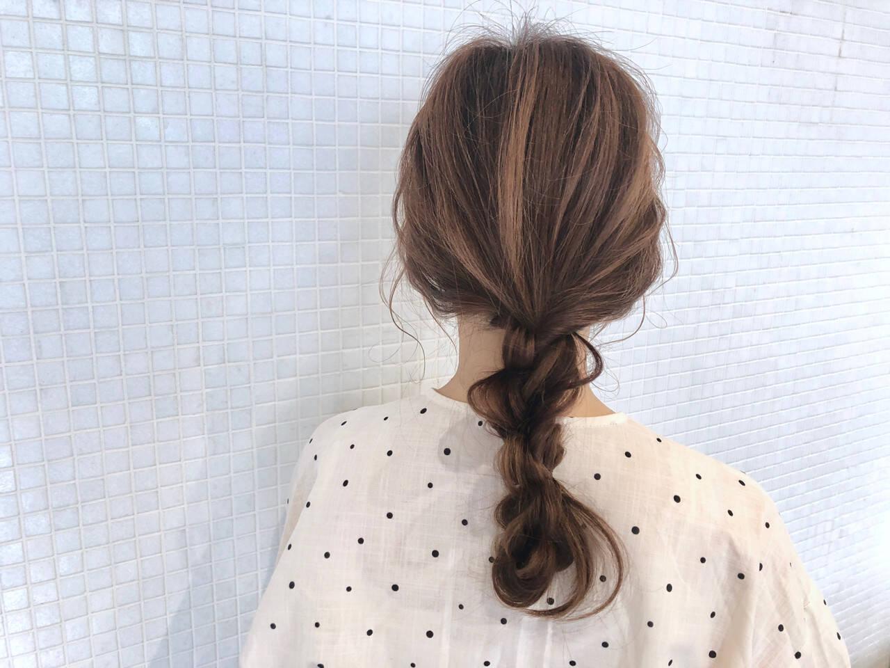 ヘアアレンジ お出かけヘア 簡単ヘアアレンジ 編みおろしヘアヘアスタイルや髪型の写真・画像