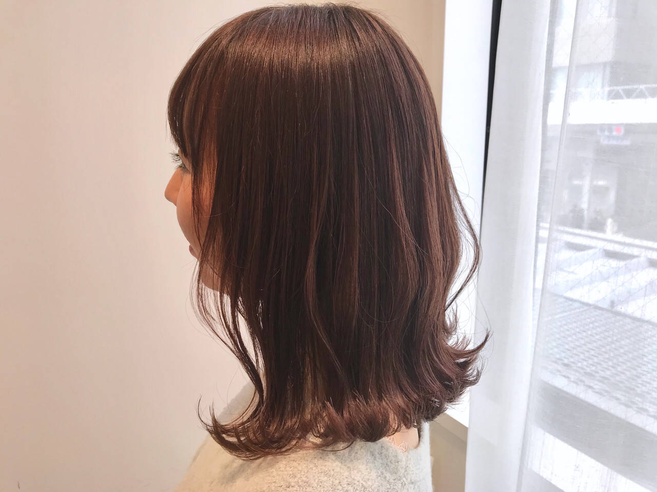 透明感カラー ピンクベージュ アンニュイほつれヘア ナチュラルヘアスタイルや髪型の写真・画像