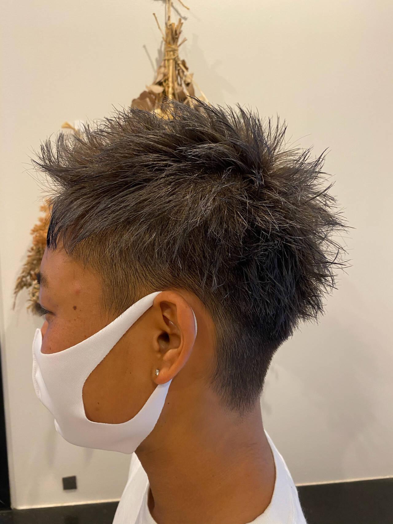 ブリーチオンカラー ストリート ショート ベリーショートヘアスタイルや髪型の写真・画像