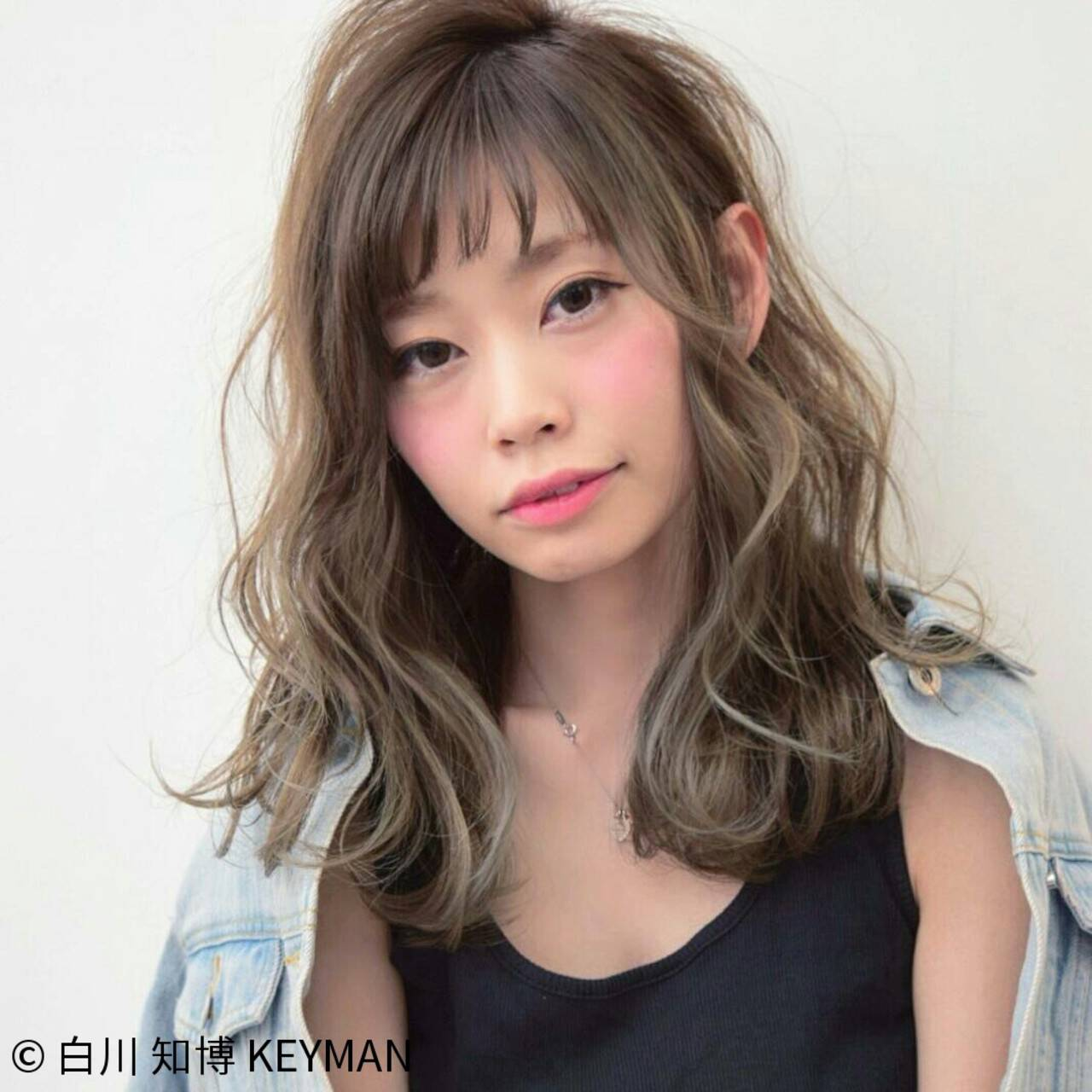 ニュアンス 大人女子 ストリート 小顔ヘアスタイルや髪型の写真・画像
