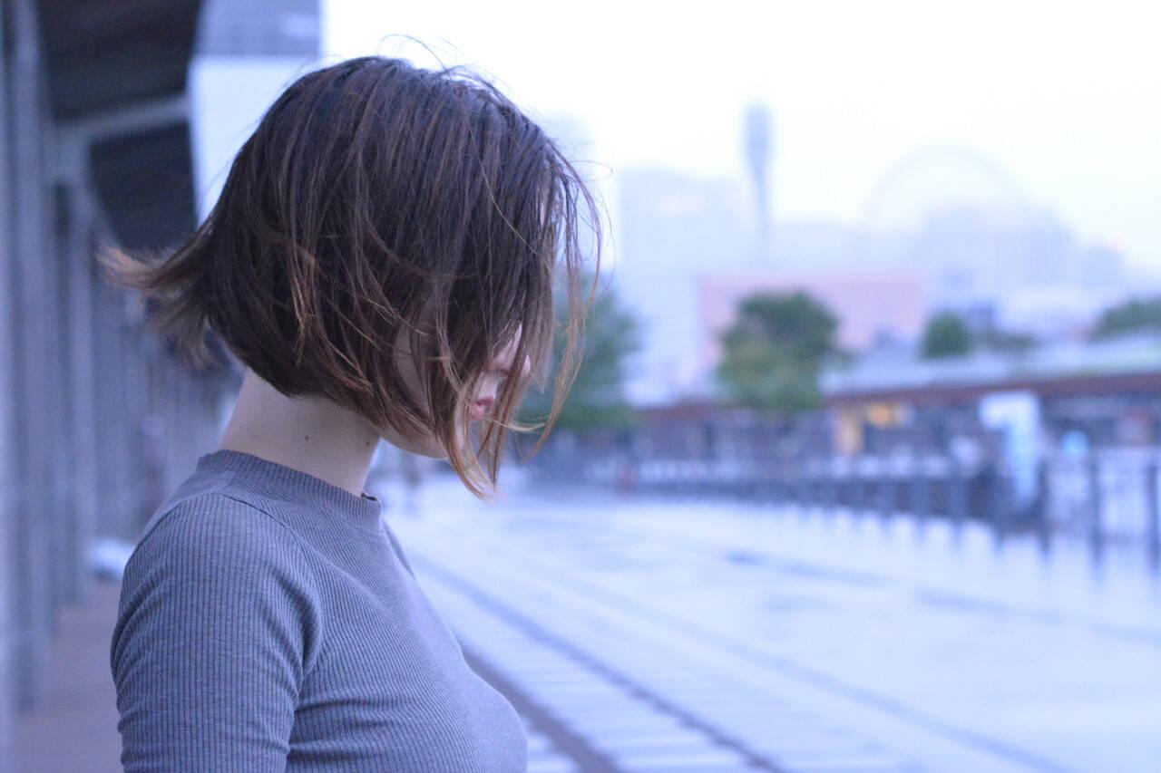 髪質改善トリートメント ショートヘア 髪質改善カラー ボブヘアスタイルや髪型の写真・画像