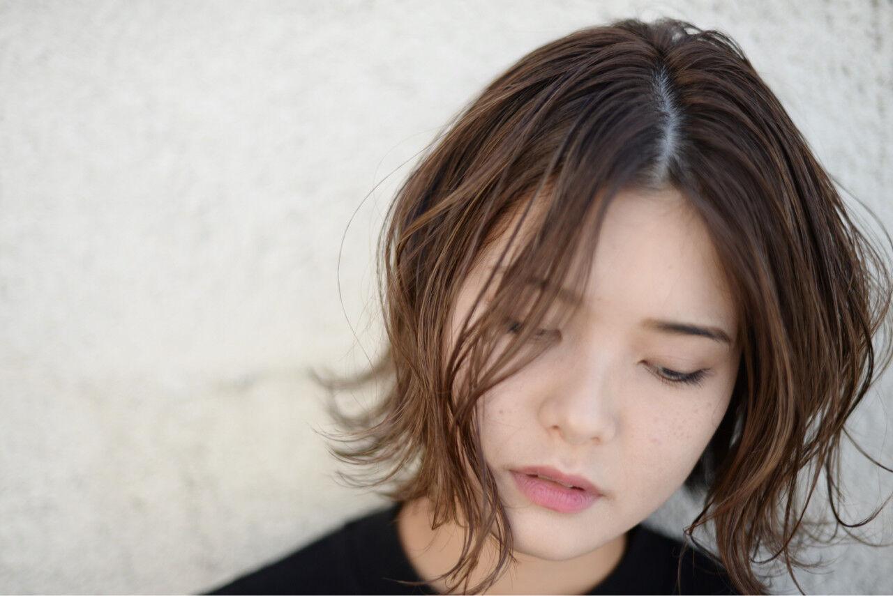 色気 ボブ ストリート ハイライトヘアスタイルや髪型の写真・画像