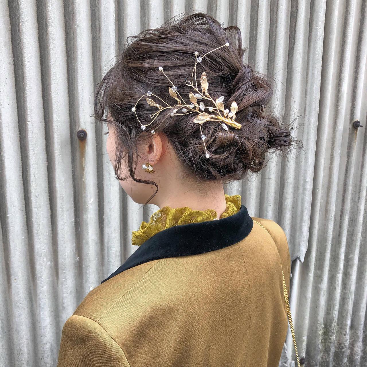 ヘアアレンジ 簡単ヘアアレンジ ヘアセット ナチュラルヘアスタイルや髪型の写真・画像