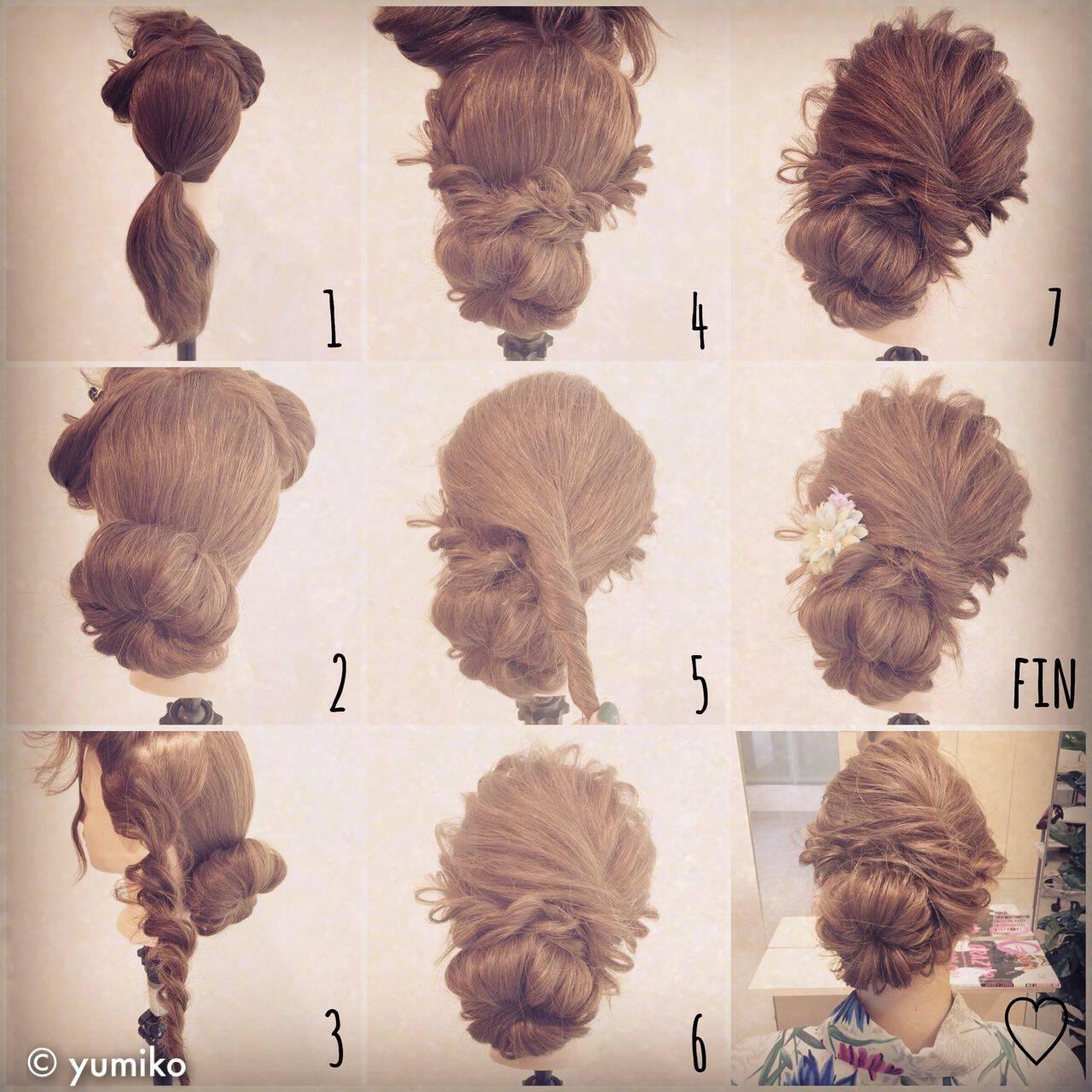 ナチュラル ヘアアレンジ ロング ショートヘアスタイルや髪型の写真・画像