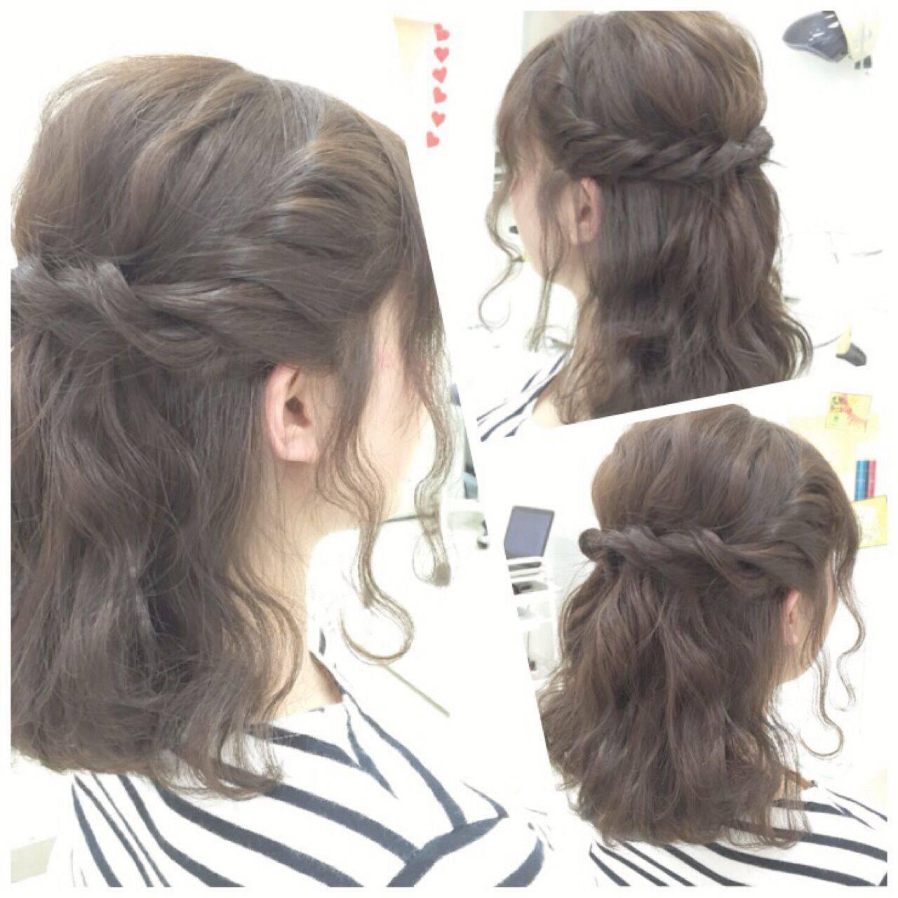 波ウェーブ モテ髪 コンサバ 愛されヘアスタイルや髪型の写真・画像