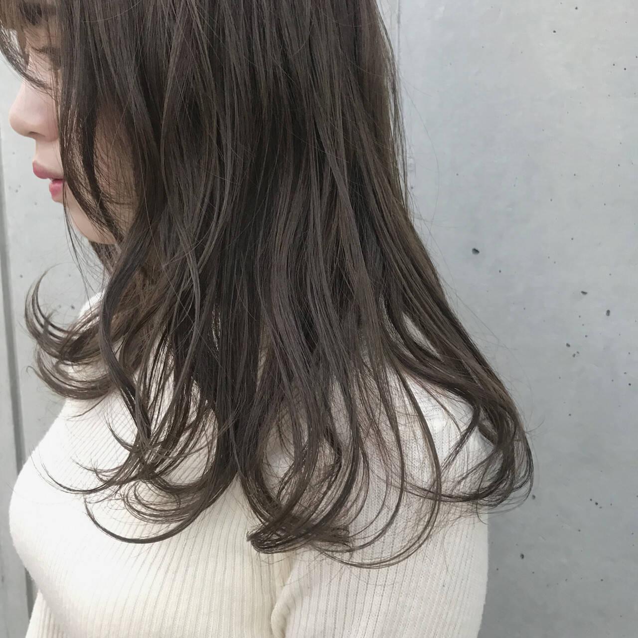 オーガニックアッシュ ナチュラル オーガニックカラー オーガニックヘアスタイルや髪型の写真・画像