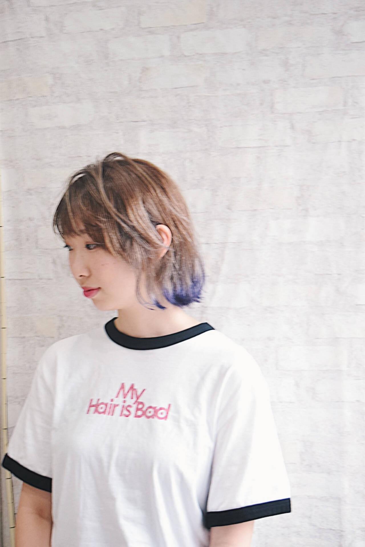 ミルクティー ワンカールスタイリング ミルクティーベージュ フェミニンヘアスタイルや髪型の写真・画像