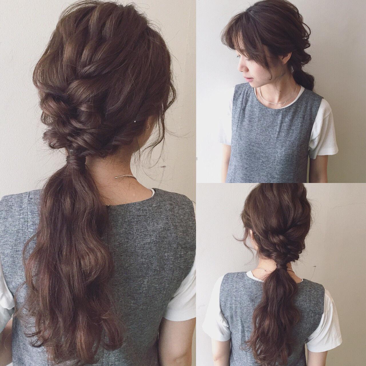 大人かわいい ゆるふわ ロング 簡単ヘアアレンジヘアスタイルや髪型の写真・画像