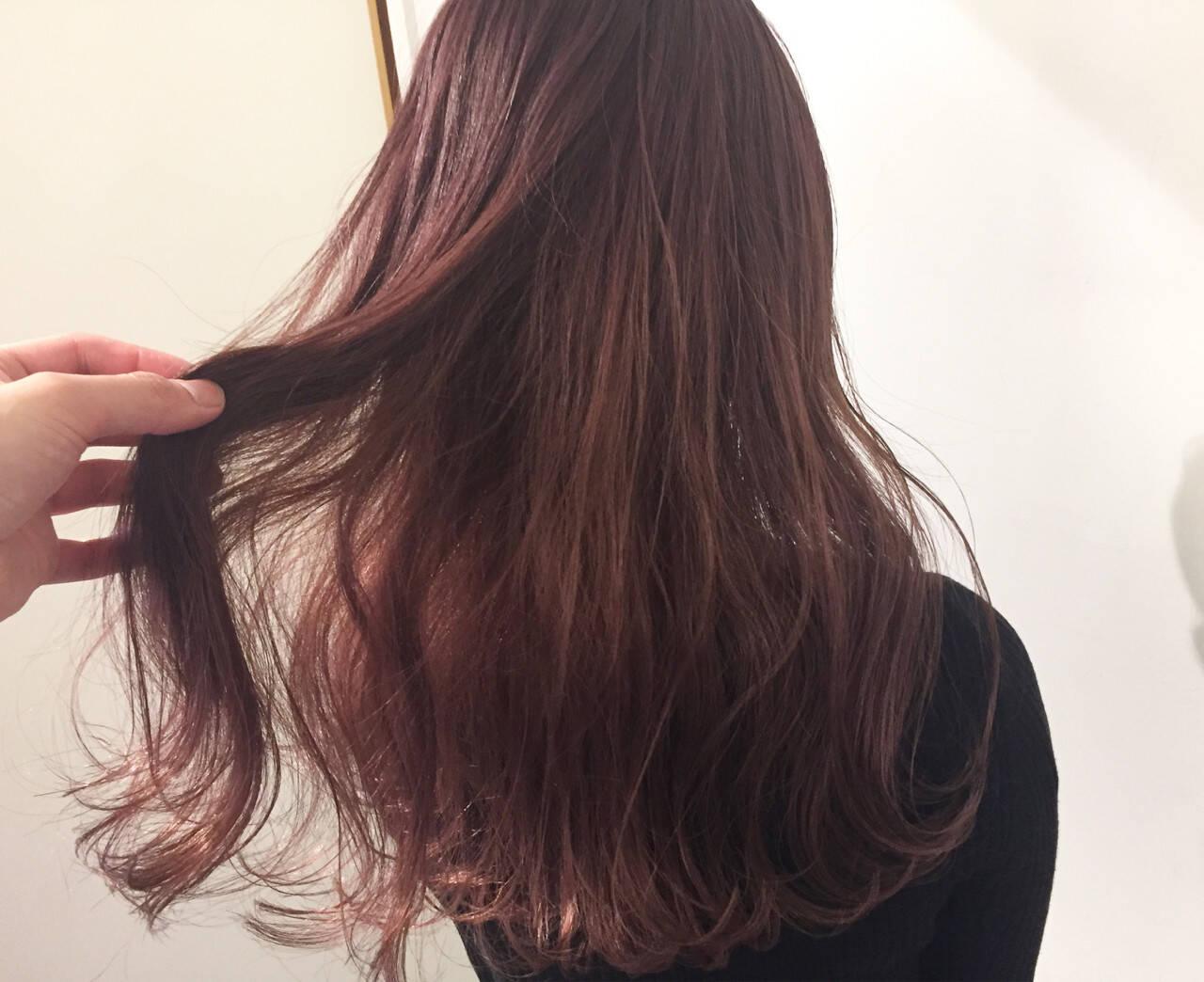 外国人風カラー ピンク ベージュ ラベンダーヘアスタイルや髪型の写真・画像
