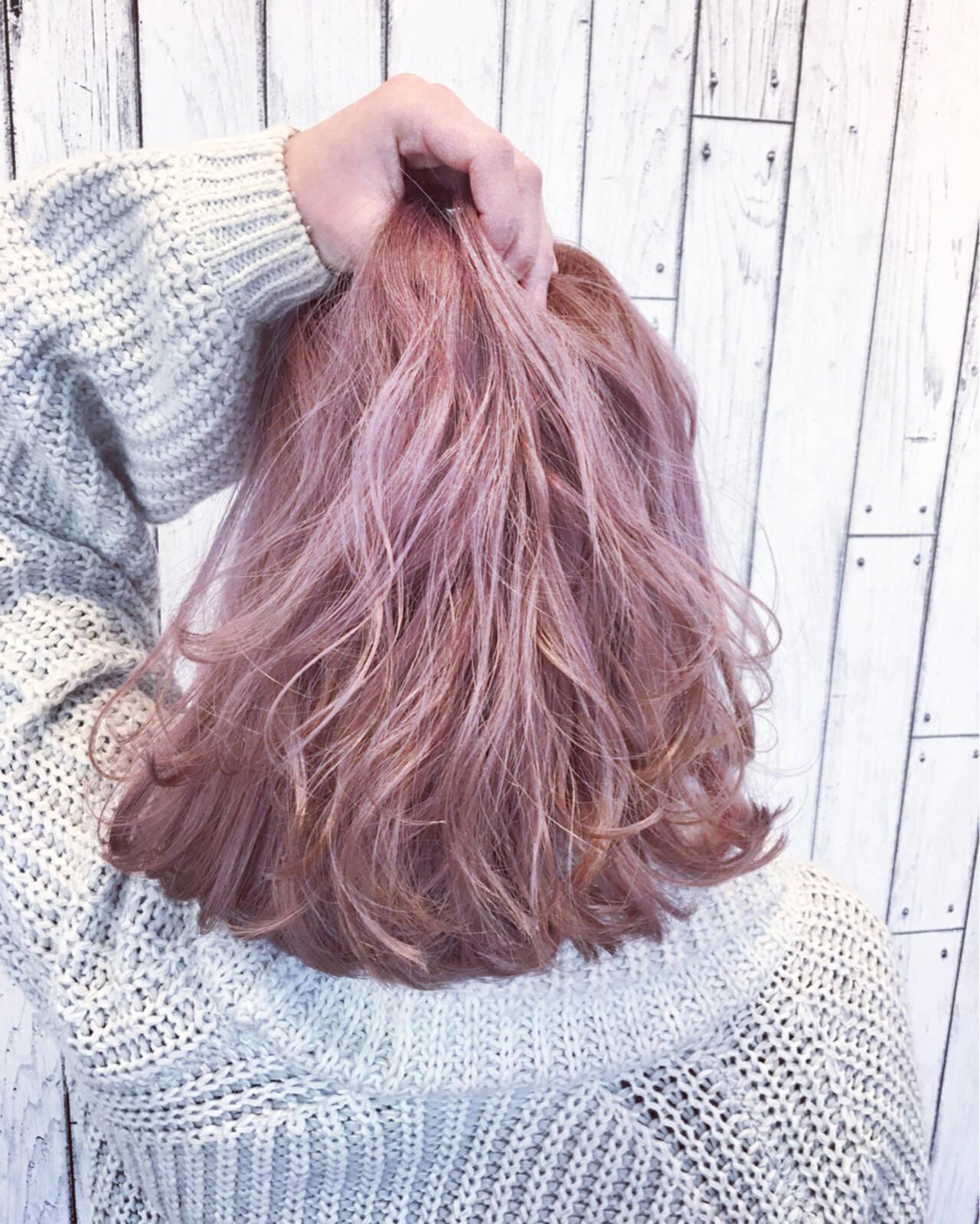 外国人風 ガーリー ハイトーン 渋谷系ヘアスタイルや髪型の写真・画像