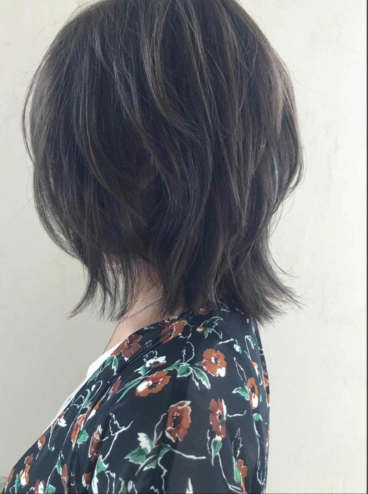 外ハネ 外国人風カラー ボブ ストリートヘアスタイルや髪型の写真・画像