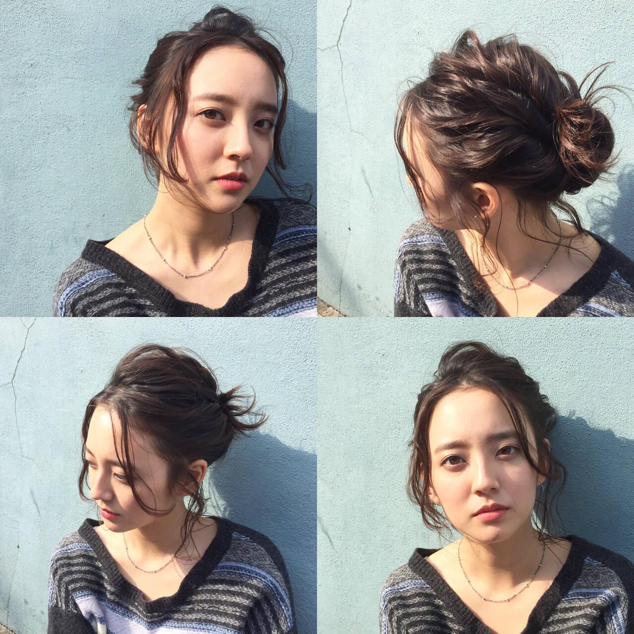 外国人風 ショート 簡単ヘアアレンジ ヘアアレンジヘアスタイルや髪型の写真・画像