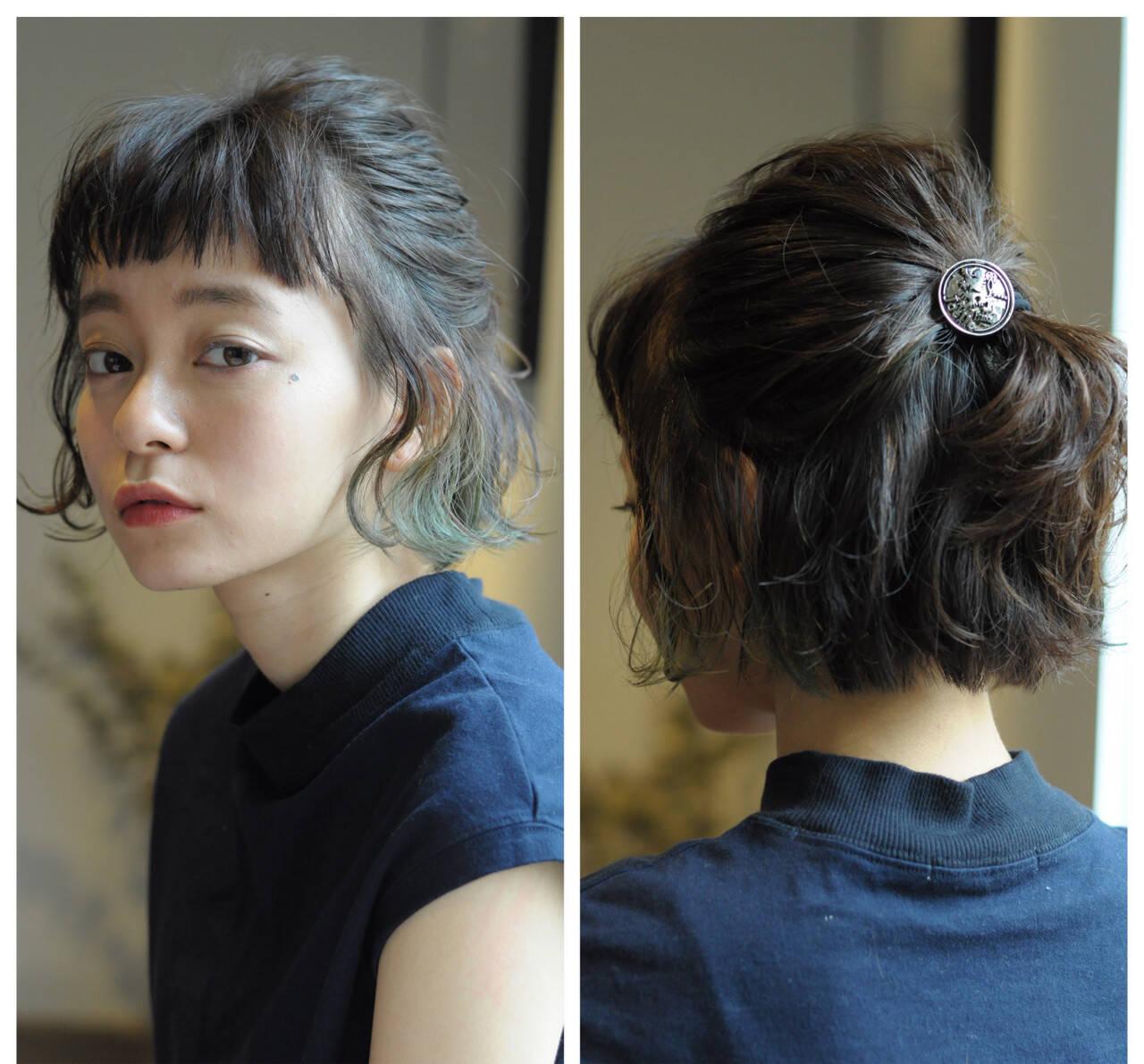お団子 ヘアアレンジ ボブ 簡単ヘアアレンジヘアスタイルや髪型の写真・画像