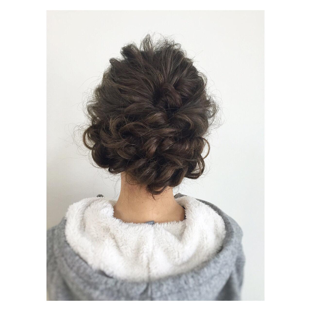 ゆるふわ ヘアアレンジ 大人かわいい 編み込みヘアスタイルや髪型の写真・画像
