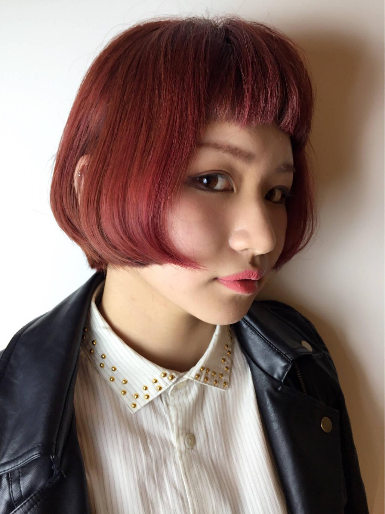 クラシカル ショートボブ モード ハイトーンヘアスタイルや髪型の写真・画像