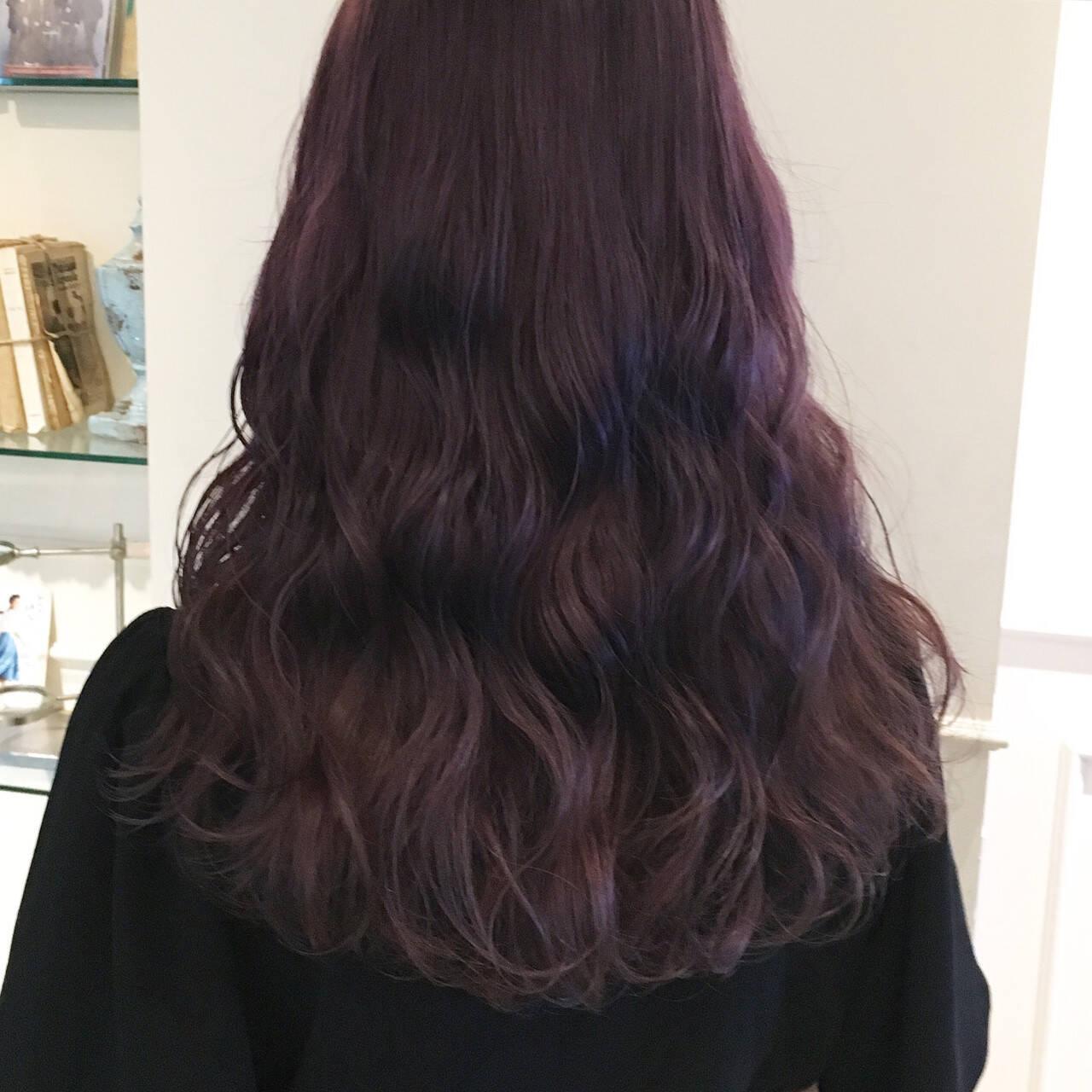 ロング ゆるふわ ピンク 透明感ヘアスタイルや髪型の写真・画像