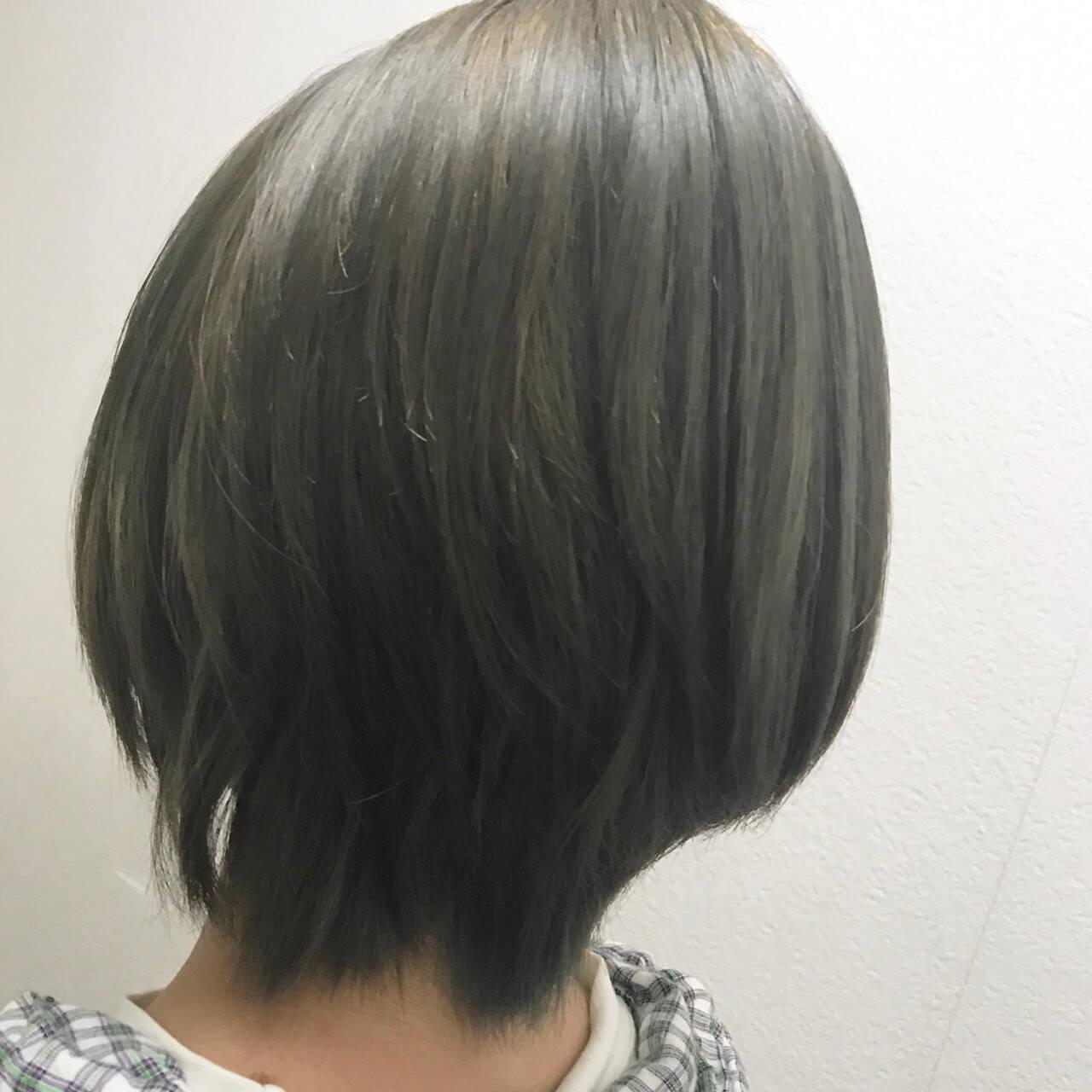 ショート モード 透明感 秋ヘアスタイルや髪型の写真・画像