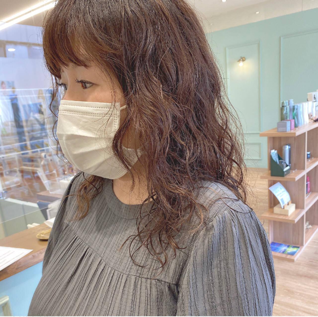 モテ髪 無造作パーマ デジタルパーマ ガーリーヘアスタイルや髪型の写真・画像