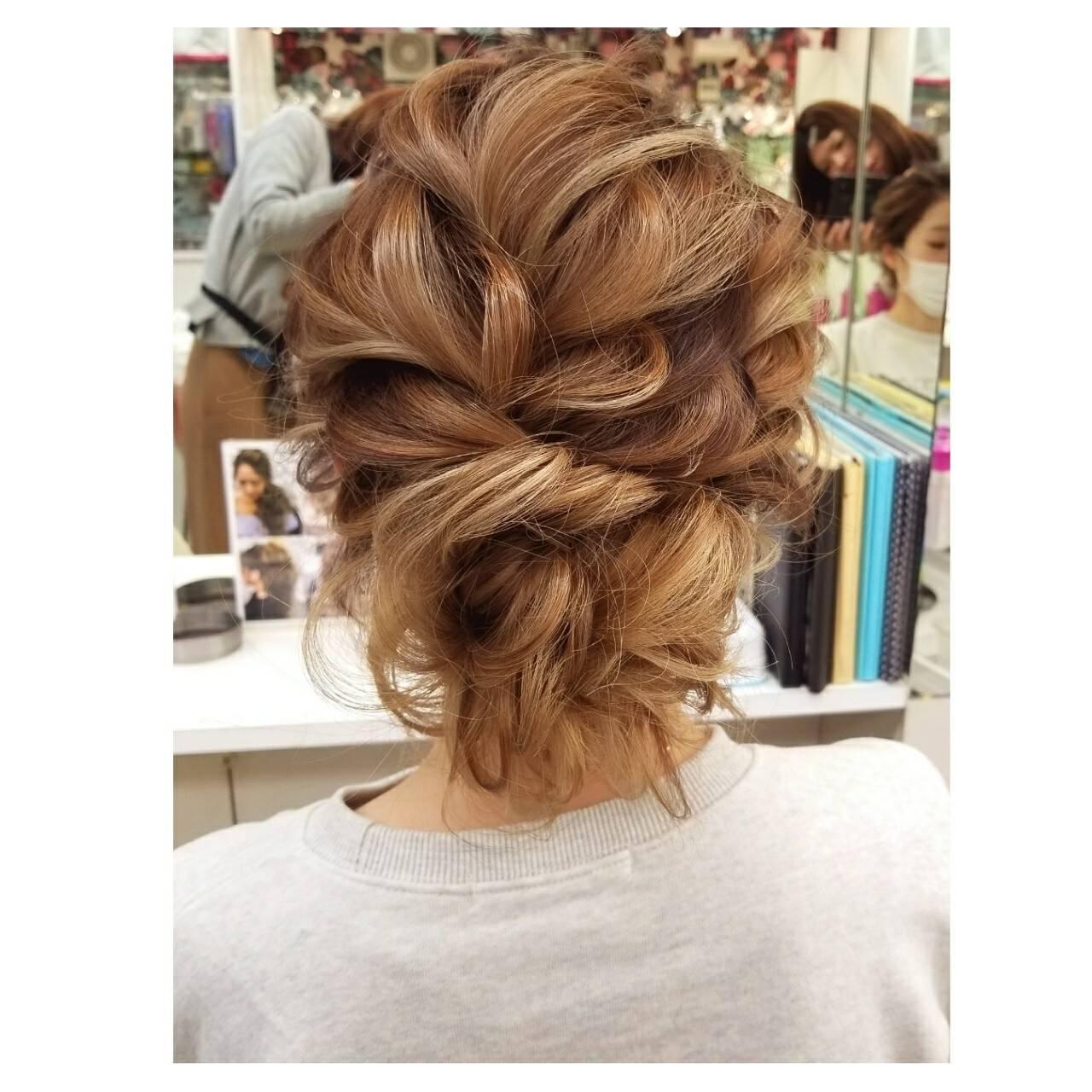 謝恩会 ヘアアレンジ 結婚式 デートヘアスタイルや髪型の写真・画像